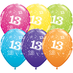 13 år grattis Produktkategorier Ballonger – Latex Archive | Kalasexperten 13 år grattis